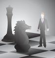 Businessman battle chess vector