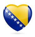 Heart icon of bosnia and herzegovina vector