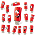 Red flash disk vector