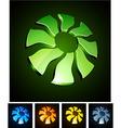 Sun vibrant emblems vector