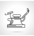 Black line icon for gynecology chair vector