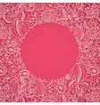 Pink ornamental card vector