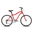 Red bicycle on a white background vector