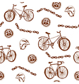 Bycicle funny seamless pattern vector