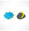 Day night icon vector