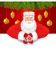 Santa claus copy space red background vector