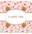 Lovely colorful invitation postcard vector