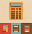 Retro calculator vector