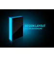 Design box blue vector