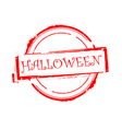 Halloween offer rubber stamp on white vector