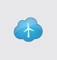 Blue cloud wind mill icon vector