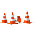 Traffic cones isolated object vector