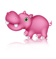 Cute hippo cartoon walking vector