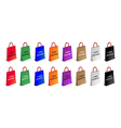 Colorful paper shopping bags for cyber monday vector