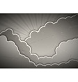 Clouds gray vector