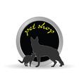 Pet shop icon vector