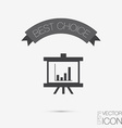 Presentation graphics business icon vector