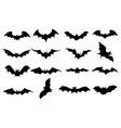 Bats icons set vector