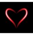 Neon heart vector