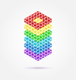 Abstract geometric shape - rainbow icon vector