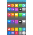 Apps navigation icons set with arrows for ui vector