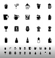 Variety drink icons on white background vector