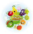 Fruit planet vector