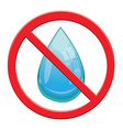 No water drop sign icon vector