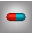 Red and blue capsule pill vector