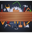 Carpentry tools background vector