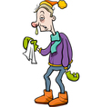Man with flu cartoon vector