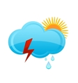 Weather rain cloud vector