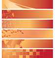 Set - red and orange banners vector