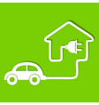 Eco car make a home icon stock vector