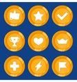 Cartoon gamification badges vector