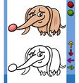 Dog game character cartoon vector