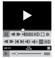 Web player design elements vector