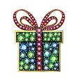 Gem gift box vector