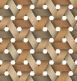 Hexagone birchbark basketwork vector