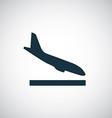 Airplane landing icon vector
