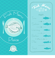 Fish menu set vector