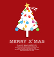 Christmas tree new year concept vector