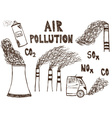 Air pollution doodle vector