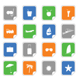Symbol on the stickers color vector