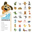 Big set of various cartoon animals and birds vector
