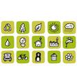 Doodle icon set eco vector