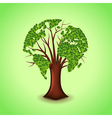 Tree world concept background vector