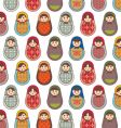 Babushka seamless pattern vector