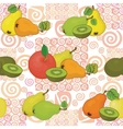 Seamless pattern and fruits vector