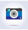 Photo camera icon blue color vector